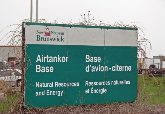 DNR-FPL Airtanker Base, Miramichi NB, 5 May 2010