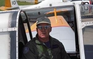 Pilot John MacNeil at FPL, Miramichi NB, 2000. [FPL files]
