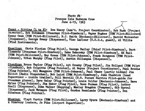 Maine 1963 - crew names