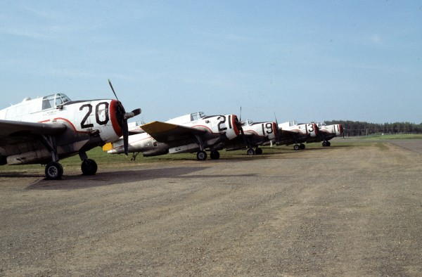 TBMs at Charlo Airport, 1981.