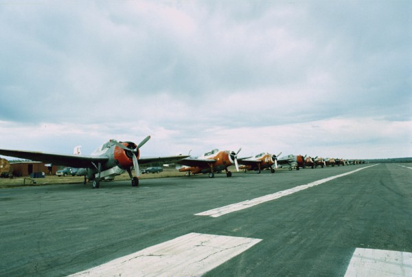 The other end of the long row of TBMs at Blissville, May 1976.