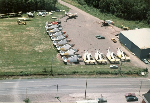 TBMs stored at Fredericton, Fall 1976.