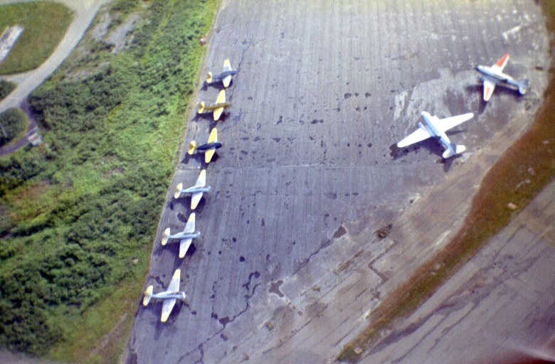 TBMs at Gander Airport, Newfound-land, July 1969.