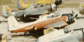 TBM fleet (12 of 19) at Deer Lake NF, 1969
