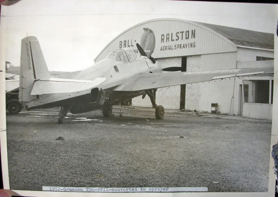 N7922A at the Ball-Ralston hangar, Hillsboro, Oregon, 1950s?