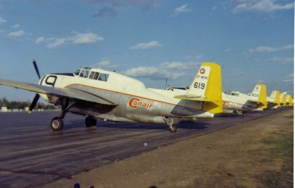 Conair TBM#619 #609_FrederictonNB_23May1970_BMacLeod