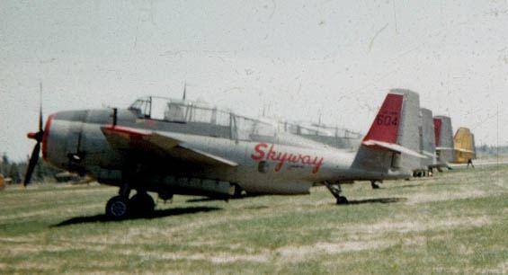 Skyway TBM#604 others Wheeler TBMs_Fredericton NB_1958_A2A-01-crop