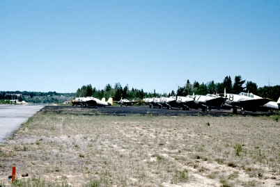 ConAir TBMs parked at Fredericton NB, 5 Jul 1977