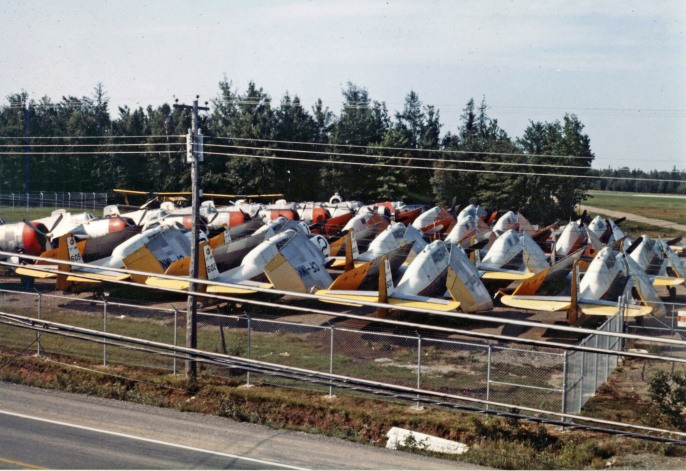 TBMs stored at Fredericton NB, probably 1976
