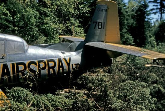 Airspray Ltd. TBM#701 (CF-KYA) wreckage, Fredericton NB, 1960