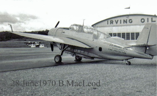 JD Irving TBM#508 (FIMO), Saint John NB, 28 Jun 1970. Barry MacLeod.