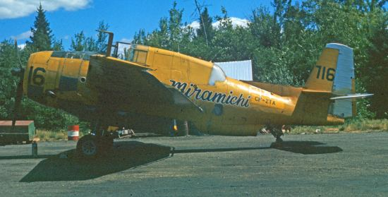 Miramichi TBM #716 FZTA, 1972. Merrill McBride.