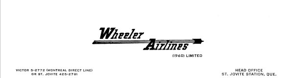 Wheeler Airlines (1960) letterhead 1961