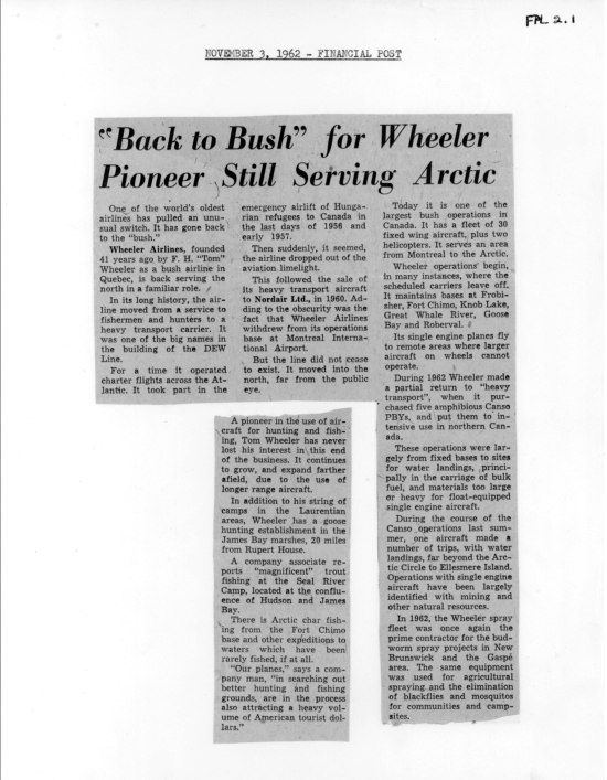 Wheeler article_Financial Post_3Nov1962