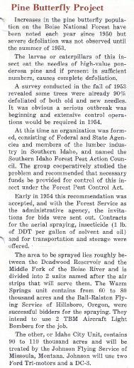 Ball-Ralston' first spray contract, 1954. Rudder Flutter June 1954, pg 5.