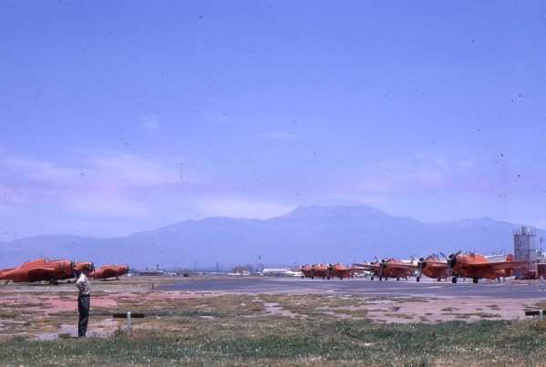 Dad looking over the flightline, Hemet, Ca May 1970 Posted by ? Stein (Lt51506), Mar 2011 to Airtanker Memories, WIX.