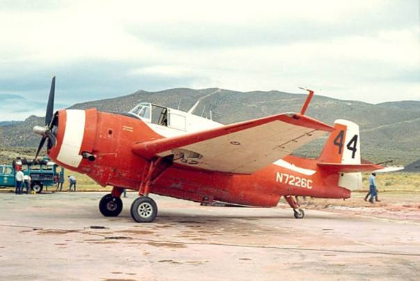 Sonora Aviation Tanker 44 at Carson City, Nevada, in August 1968. Wm.T. Larkins photo