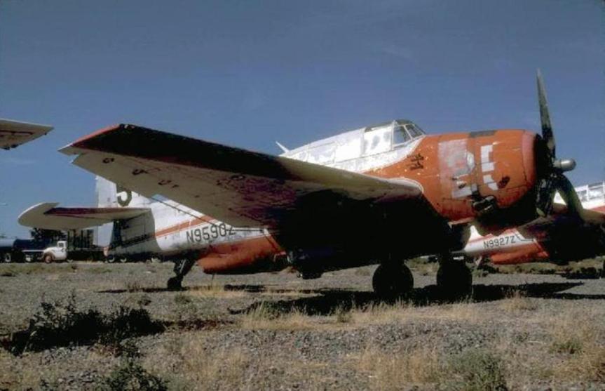 Globe Air Tanker #25 In storage, Arizona, Summer 1980