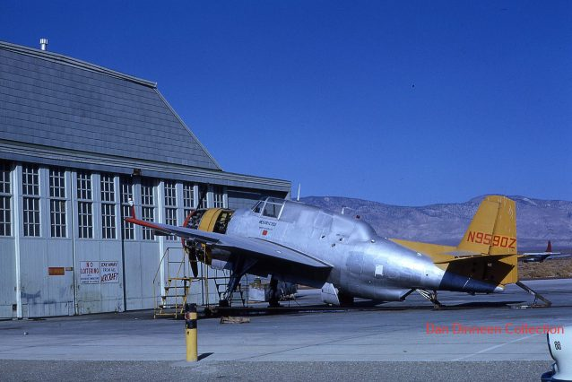 Tanker N9590Z in 1962. Posted by Dan Dineen to TBM's - Mil and Civil.