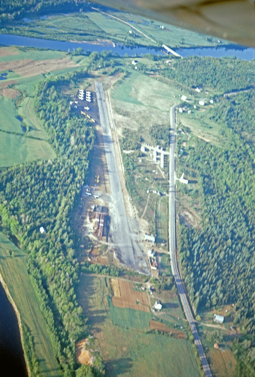 Dunphy airstrip from air, June 1967