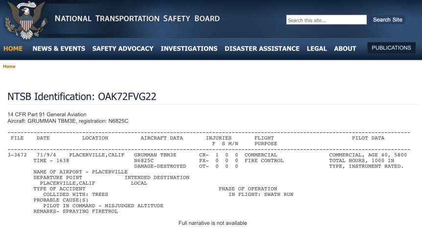 N68225 crash