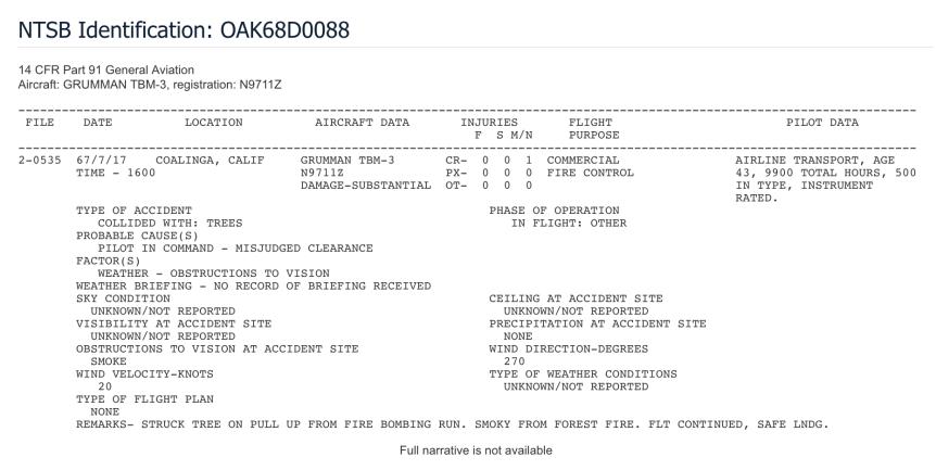 N9711Z NTSB report
