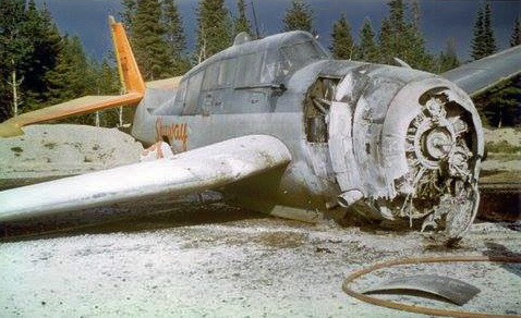 Skyway TBM#612 wreckage_JuniperNB_1961